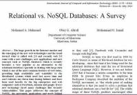 ترجمه مقاله انگلیسی : Relational vs. NoSQL Databases: A Survey