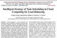 ترجمه مقاله انگلیسی : Intelligent Strategy of Task Scheduling in Cloud Computing for Load Balancing