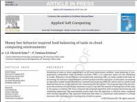 ترجمه مقاله انگلیسی  : Honey bee behavior inspired load balancing of tasks in cloud computing environments