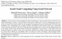 ترجمه مقاله انگلیسی : Social Cloud Computing Using Social Network