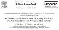 ترجمه مقاله : Performance Evaluation of the IBETX Routing Metric over DSDV Routing Protocol in Wireless Ad hoc Networkss