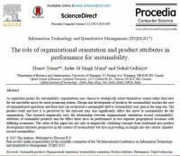 ترجمه مقاله انگلیسی : The role of organizational orientation and product attributes in performance for sustainability