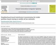 ترجمه مقاله : Neighborhood based interference minimization for stable position based  ....