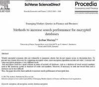 ترجمه مقاله انگلیسی : Methods to increase search performance for encrypted databases